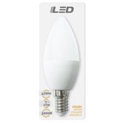 Ampoule LED E14 6W 3000K en blister - HIDALGO'S