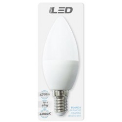 Ampoule LED E14 6W 4000K en blister - HIDALGO'S