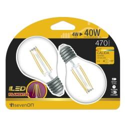 2 ampoules LED FILAMENT E14 4W 2700K en blister - HIDALGO'S