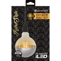 Ampoule FILAMENT INCANDESCENT E27 8W 2100K en carton - HIDALGO'S