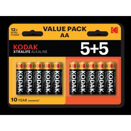 Blister de 10 piles alcalines LR06 - AA – 1,5V KODAK