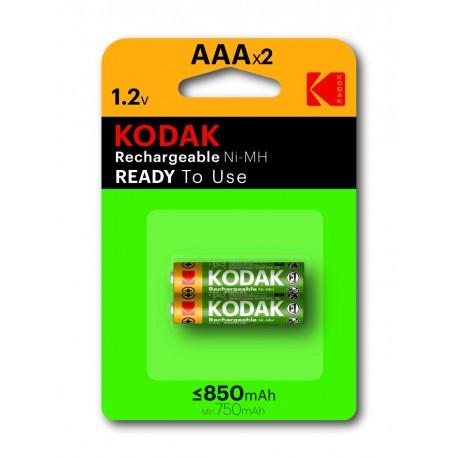 2 Piles KODAK Rechargeable HR06 en blister