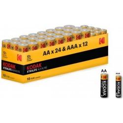 36 piles KODAK - 24 piles AA + 12 piles AAA