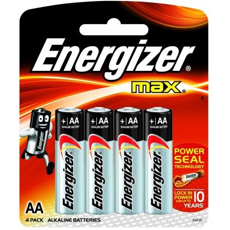 4 Piles Alcalines  LR06 / AA - Energizer Max