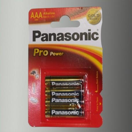 Piles alcalines LR03 - AAA – 1,5V Panasonic Pro Power