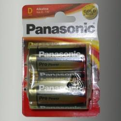 Piles alcalines LR20 - D – 1,5V Panasonic Pro power