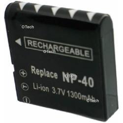Batterie de remplacement pour CASIO NP-40 Black 3.7V L12