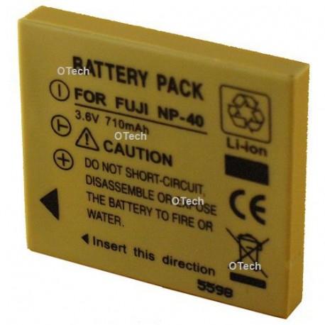 Batterie de remplacement pour FUJI NP-40/SLB-0737 Grey 3.7V L6