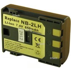 Batterie de remplacement pour NB-2LH, NB-2L Dark Grey L6/7