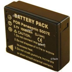 Batterie de remplacement pour PANASONIC S007E / DMW-BCD10 3.7V L