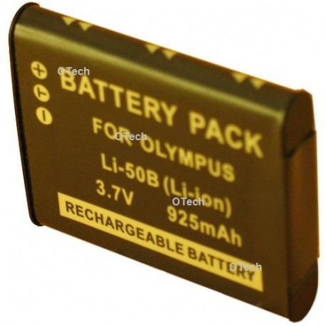 Batterie de remplacement pour OLYMPUS LI-50B 3.7V L9/10